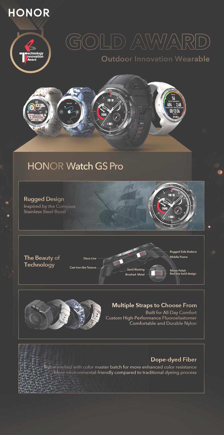 Honor fait évoluer sa montre connectée Honor Watch GS Pro avec de nouvelles déclinaisons
