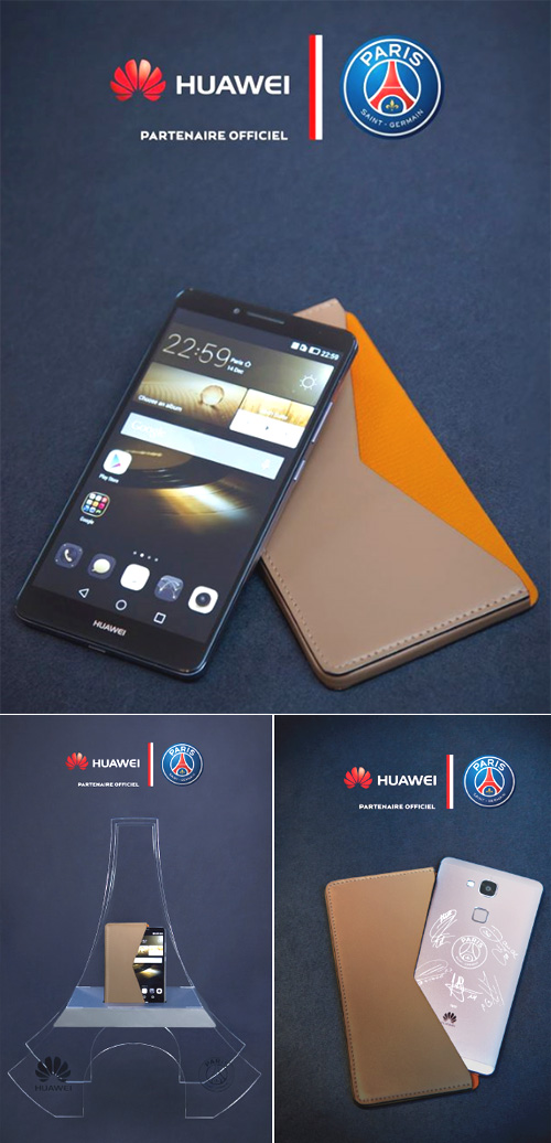 Huawei Ascend Mate7 : un smartphone aux couleurs du PSG