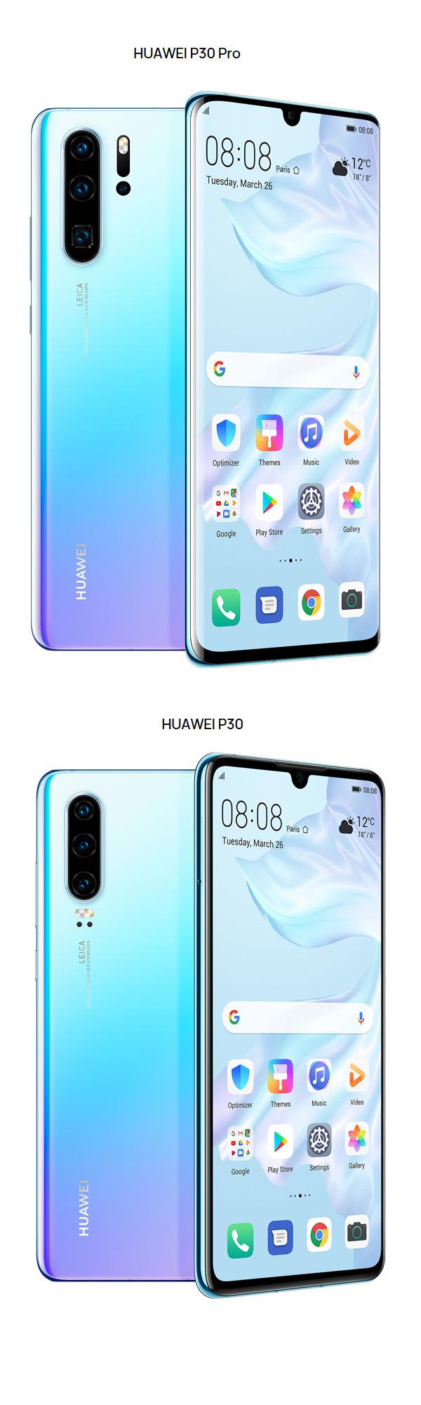 Huawei repousse les limites des appareils photos avec sa nouvelle gamme P30