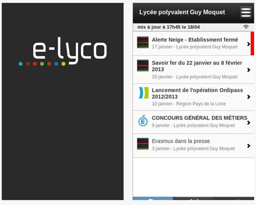 Info pratique : E-lyco lance son application mobile