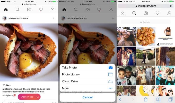 Instagram : une mise à jour permet d'ajouter des photos à travers la version web mobile