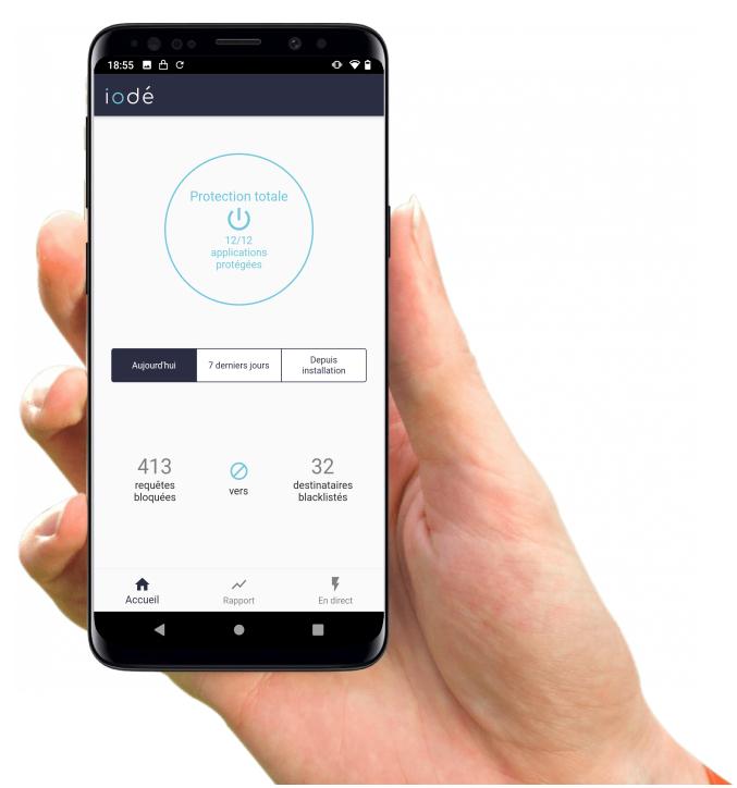 iodé, une nouvelle solution qui permet de bloquer les publicités et les mouchards sur les smartphones