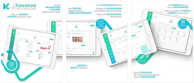 Keeskee, une application e-santé qui met en commun les dossiers des patients entre professionnels de santé