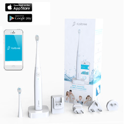 La brosse à dents Kolibree pour des dents blanches et une bouche qui respire la santé, et pour longtemps