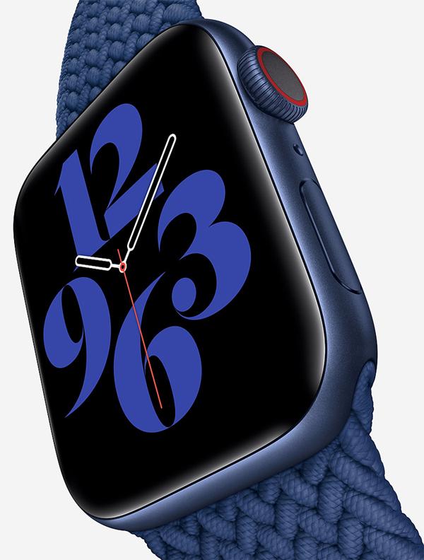 L'Apple Watch Series 6, une montre connectée  qui mesure le taux d'oxygène dans le sang