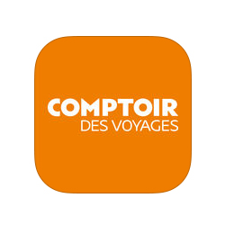 """L'application Comptoir des Voyages,  Luciole, """" best personal traveler """""""