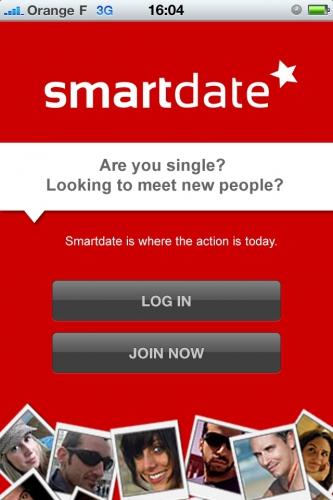 L'application iPhone de Smartdate se place à la première place en France