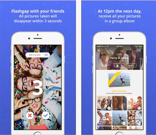 Flashgap, une application photo pour revivre sa soirée mais le lendemain  à midi
