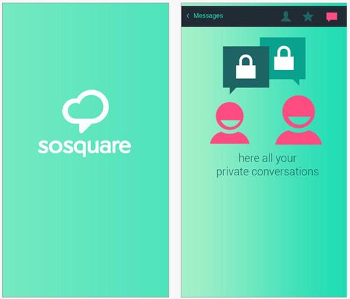 L'application sosquare rend social tous les lieux de la planète