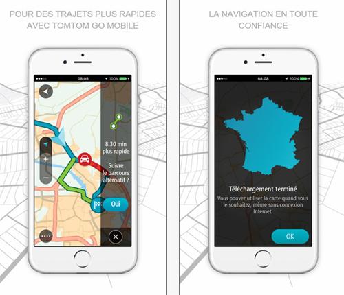 L'application TomTom GO Mobile passe en mode pour iPhone