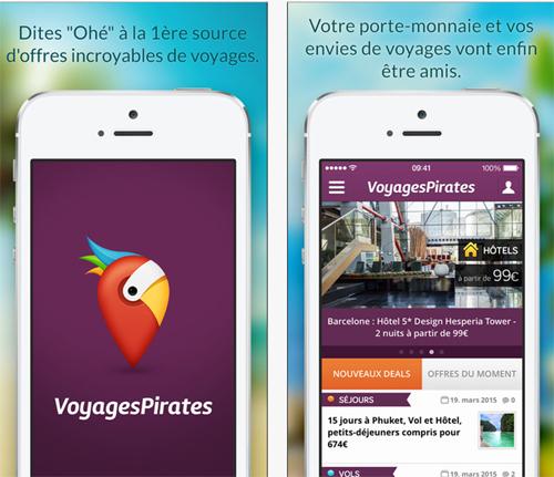 VoyagesPirates, une application qui permet d'accéder aux bons plans du moment