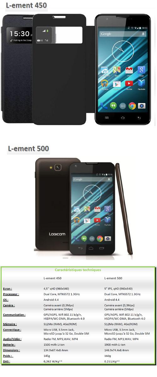 L-EMENT 450 et 50 : deux smartphones à moins de 100 euros