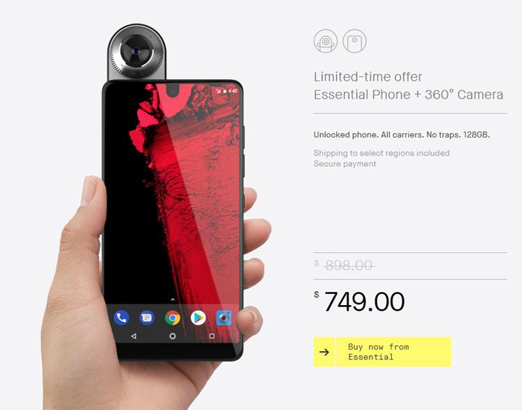 L'Essential Phone arrive enfin... mais pour l'instant aux Etats-Unis