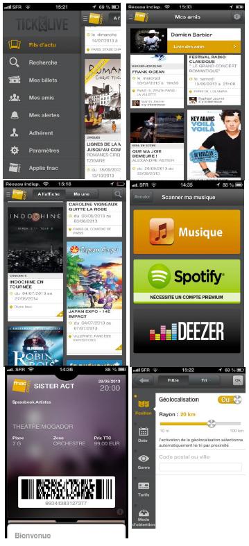 La Fnac lance une nouvelle version de son application « Tick&Live » pour iPhone
