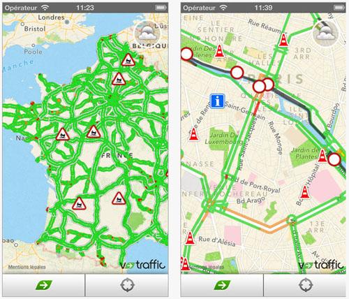 La nouvelle version de l'application mobile My V-Traffic est disponible sur Android