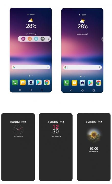 L'interface UX 6.0+ sur le LG V30 offre plus d'options de personnalisation