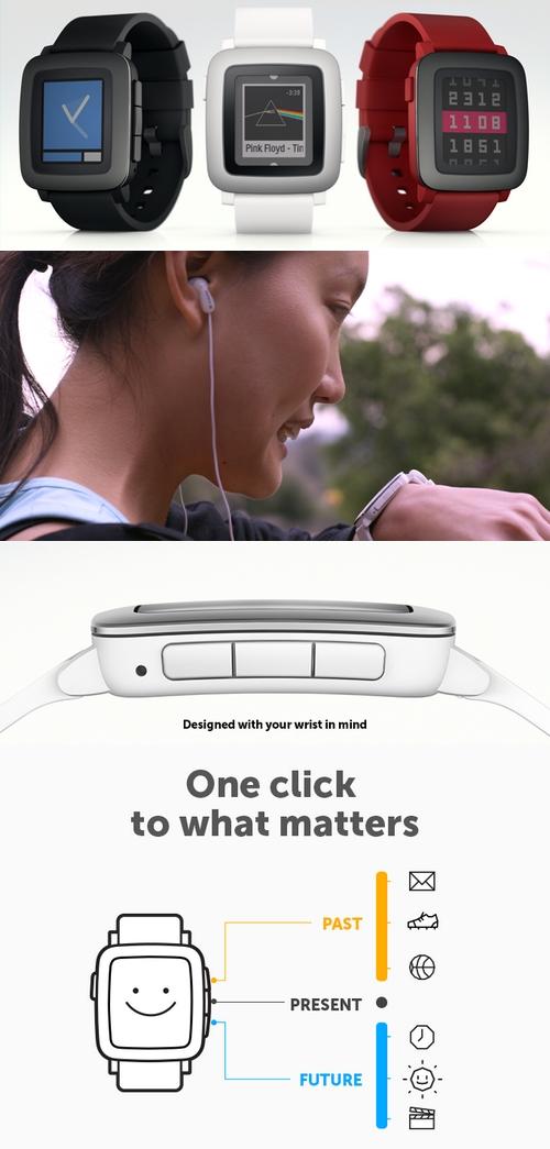 La Pebble mieux que l'Apple Watch