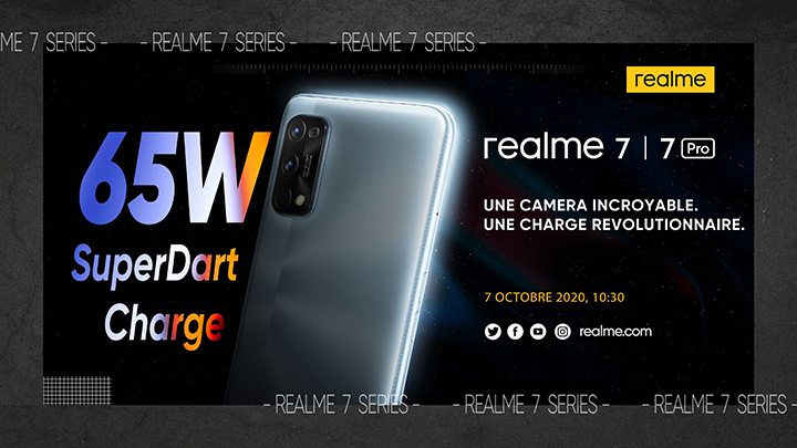 La série realme 7 sera lancée en France le 7 octobre