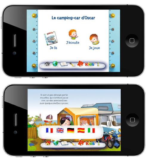 Le Camping Car d'Oscar debarque sur iPhone pour les enfants
