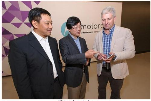 Le chinois Lenovo s'empare de  Motorola Mobility