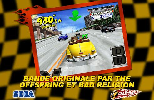 Le crazy taxi de Sega déboule sur Android