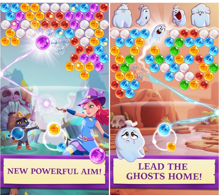 Bubble Witch 3 Saga est disponible sur mobile
