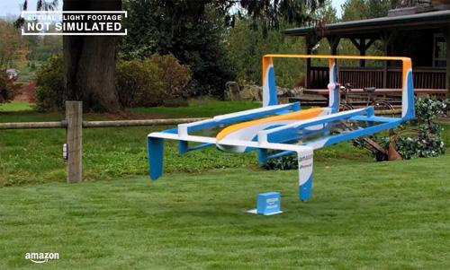 Amazon dévoile son drone livreur de colis