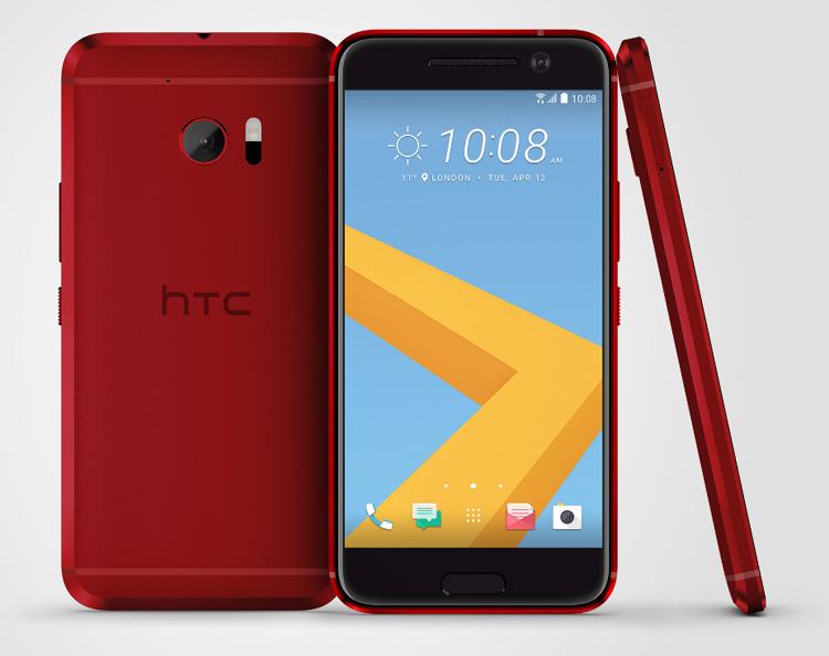 Le HTC 10 se décline désormais en Rouge Camelia