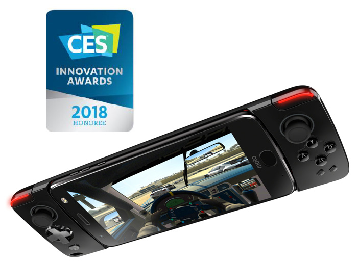 CES 2018 : le moto mod Gamepad de Motorola remporte un  Innovation Awards