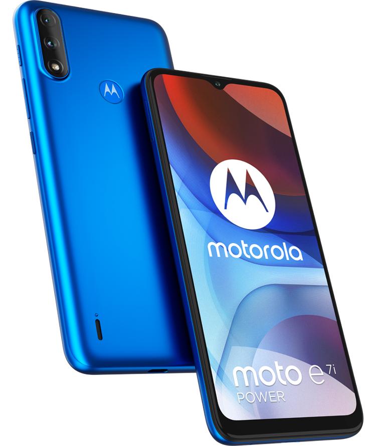 Le Motorola Moto E7i Power, un smartphone pas cher avec une grosse batterie