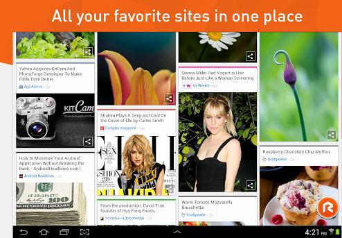 Le navigateur RockMelt disponible sur Android OS