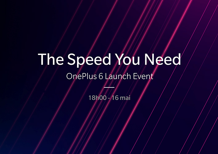 Le OnePlus 6 sera dévoilé à Londres le 16 mai 2018
