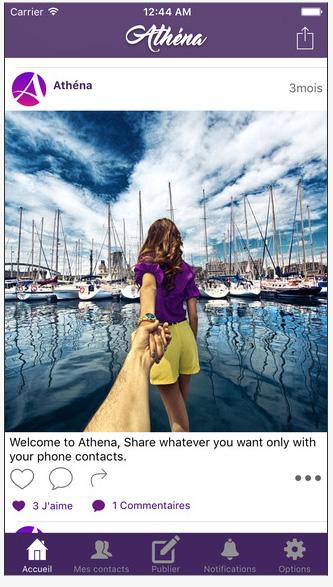 Athéna, un réseau social made in France