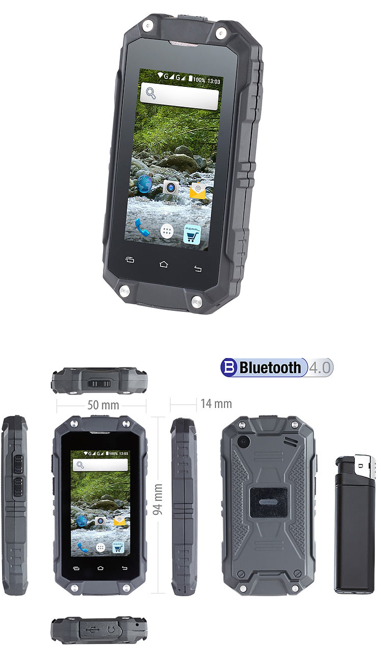 Le SimValley SPT-210 : un mini smartphone Android outdoor