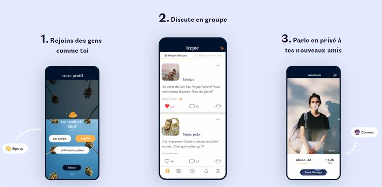 Leepse, une application de discussions dédiée aux étudiants