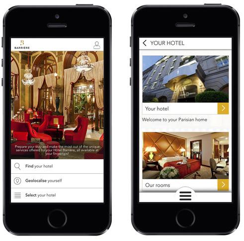 Les Hôtels Barrière lancent  leur application mobile