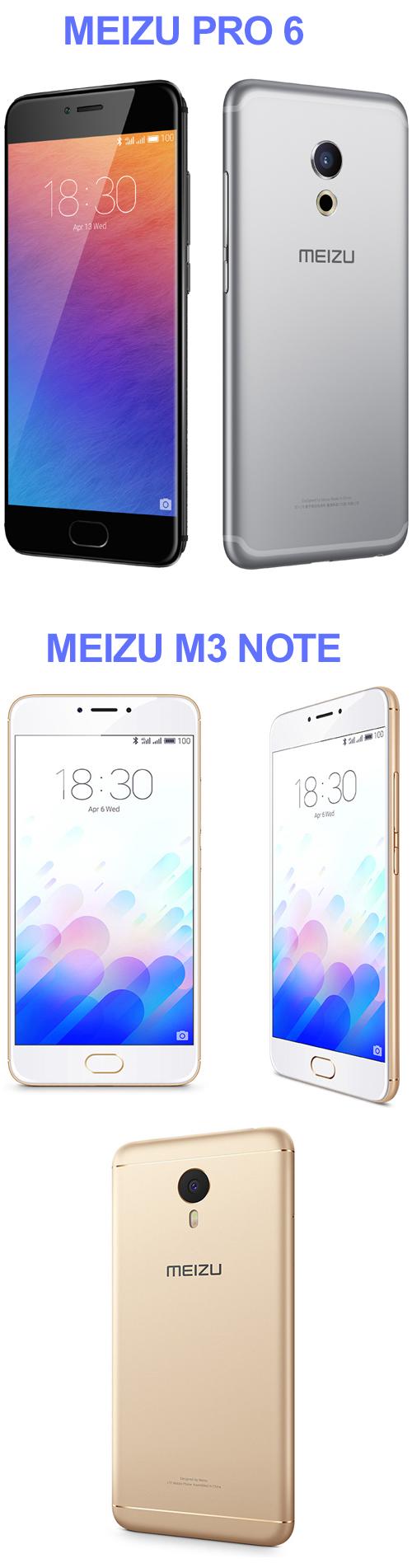 Les Meizu Pro 6 et M3 Note sont disponibles en précommande en France