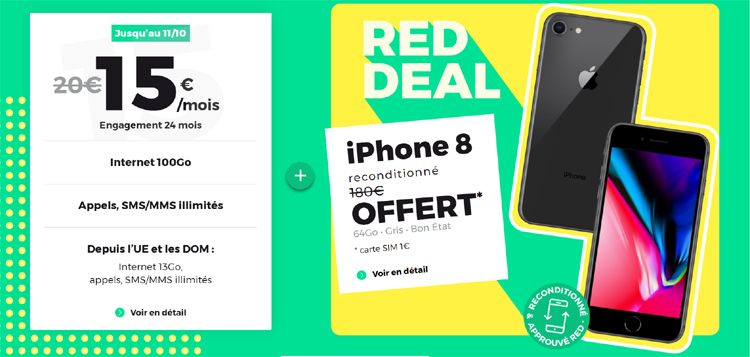 Les nouvelles promotions RED by SFR jusqu'au 11 octobre