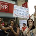 Les salariés de chez SFR en colère !