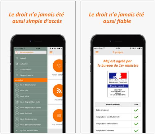MCJ-Mon Code Juridique, une application pour les férus de droit