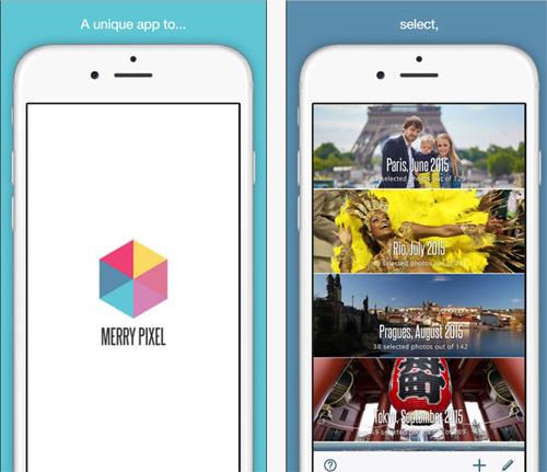 Merry Pixel, l'application qui trie les plus belles photos de votre smartphone