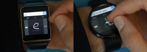 Microsoft dévoile un clavier virtuel pour  les montres Android Wear