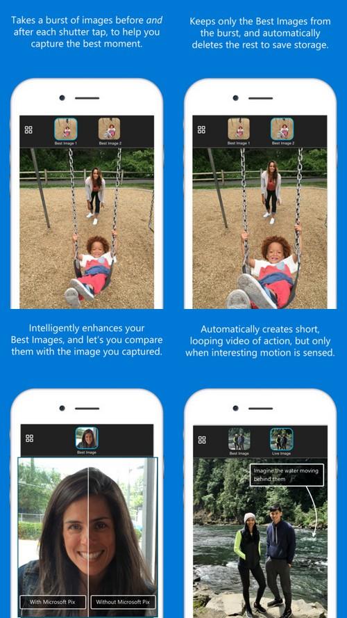 Microsoft Pix : le meilleur appareil photo pour les terminaux iOS ?