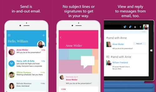 Microsoft lance officiellement « Send » pour iOS