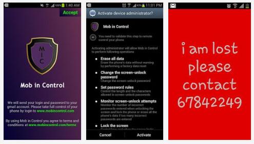 Mob in Control : une application de contrôle de smartphone à distance sans connexion