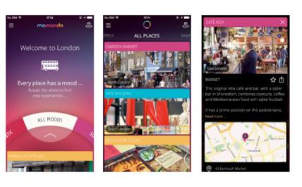 momondo places : une application de tourisme urbain pour iPhone