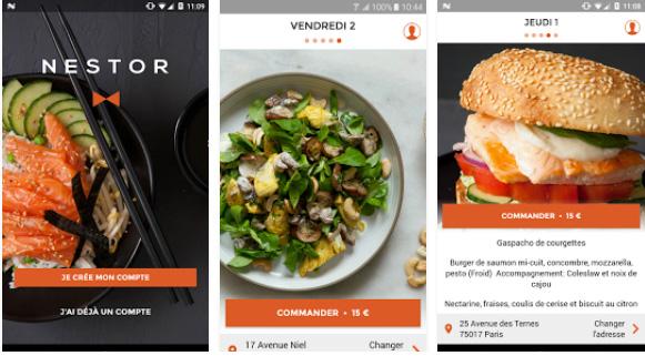 Commandez votre repas sur Paris depuis votre smartphone à l'endroit où vous le désirez