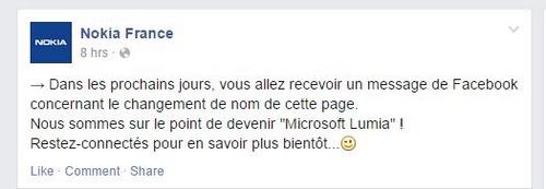 Nokia disparaît pour laisser place à Microsoft Lumia