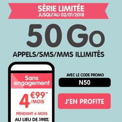 NRJ Mobile, un forfait Woot en série limitée 50 Go à 4.99 € par mois