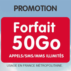 NRJ Mobile propose son forfait Woot en série limitée 50 Go à 9.99 € par mois